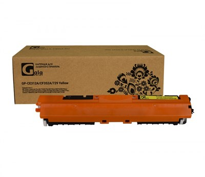 Картридж GP-CE312A/CF352A/729 (№126A №130A) для принтеров HP Color LaserJet Pro M175/M175a/M175nw/M275/M275nw/CP1020/CP1025/CP1025nw/CM176/CM176n/CM177/CM177fw/Canon i-SENSYS LBP7010/LBP7018/LBP7010C/LBP7018C Yellow 1000 копий GalaPrint - фото 4653